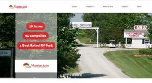 Victorian Acres RV Park website project