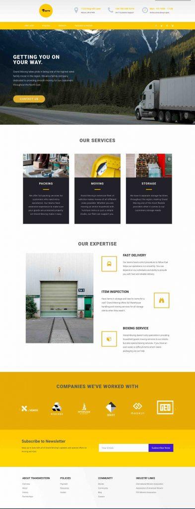 Grand Movers Custom Web Design