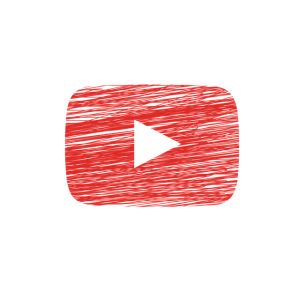 The YouTube play button logo.