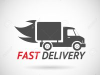 Fast Delivery Symbol Shipping Silhouette Icon Design Template Vector Illustration